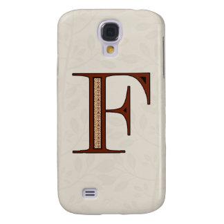 Damast-Buchstabe F - Rot Galaxy S4 Hülle