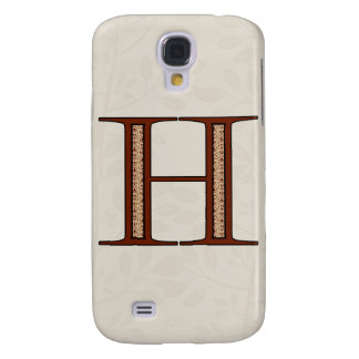 Damast-Buchstabe H - Rot Galaxy S4 Hülle