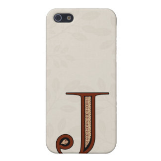 Damast-Buchstabe J - Rot iPhone 5 Etui