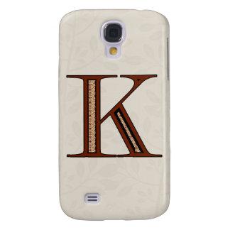 Damast-Buchstabe K - Rot Galaxy S4 Hülle