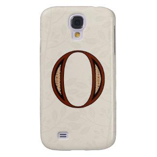 Damast-Buchstabe O - Rot Galaxy S4 Hülle