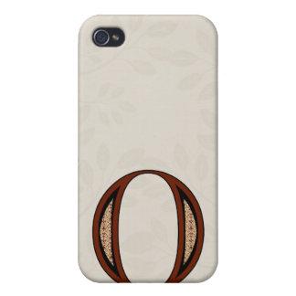Damast-Buchstabe O - Rot Schutzhülle Fürs iPhone 4