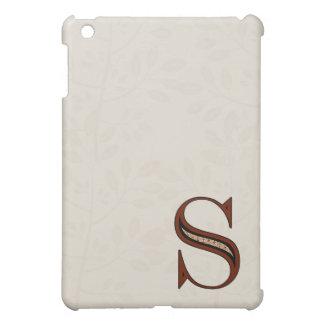 Damast-Buchstabe S - Rot iPad Mini Hülle