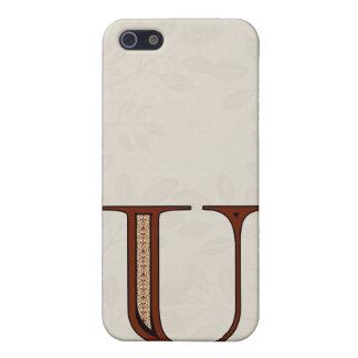 Damast-Buchstabe U - Rot Etui Fürs iPhone 5