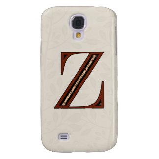 Damast-Buchstabe Z - Rot Galaxy S4 Hülle