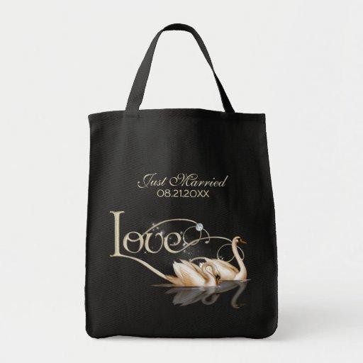 Damast-Eleganz Einkaufstaschen