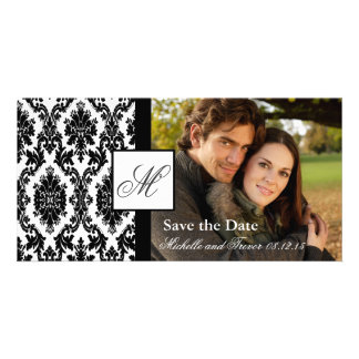 Damast-Foto Save the Date Foto Karten