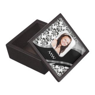 Damast-Fotohintergrund Kiste