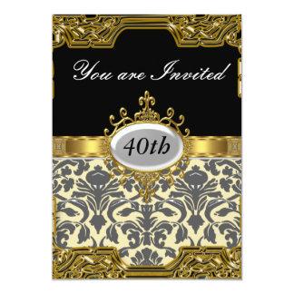 Damast-Geburtstags-Party-Glamour-heiße Einladung