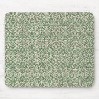 Damast-grünes Muster Mauspads