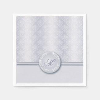 Damast hellblau serviette