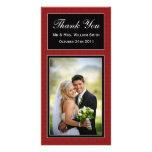 Damast-Hochzeit danken Ihnen zu kardieren Photo Grußkarte