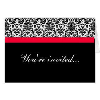 Damast-Hochzeit laden ein Grußkarte