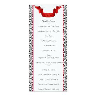 Damast-Hochzeits-Empfangs-Programm 10,2 X 23,5 Cm Einladungskarte