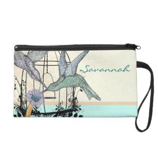 Damast-KolibriBirdcageWristlet Wristlet