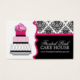 Damast-Kuchen-Bäckerei-Visitenkarten Visitenkarte
