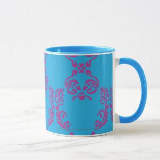 Damast Lila-Aqua Tasse