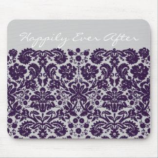 Damast-lila Hochzeit Mousepads