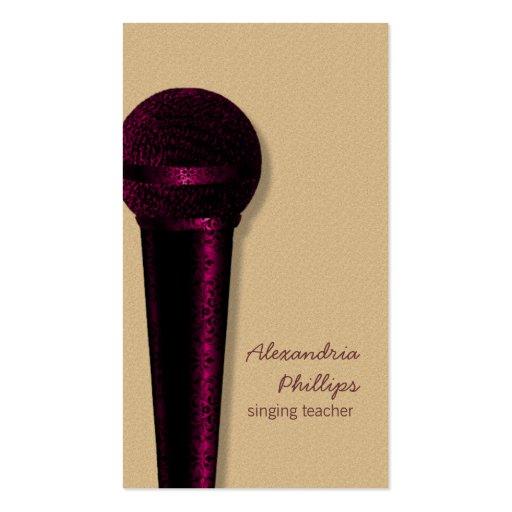 Damast-Mikrofon-Visitenkarte, dunkles Rosa