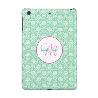 Damast-Monogramm Girly iPad Fall