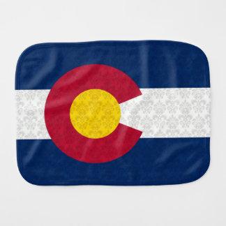 Damast-Muster-Flagge von Colorado Baby Spucktuch