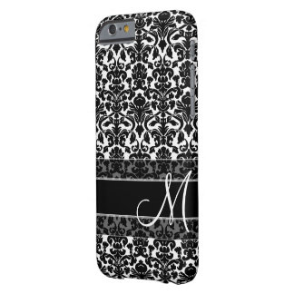 Damast-Muster mit Monogramm Barely There iPhone 6 Hülle