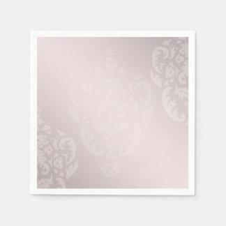 Damast-Rosa erröten Papierserviette