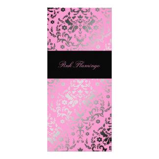 Damast-rosa Flamingo-Menü der Blendungs-311 Individuelle Werbekarte