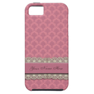 Damast-Rosen-Rosa-Farbe Tough iPhone 5 Hülle