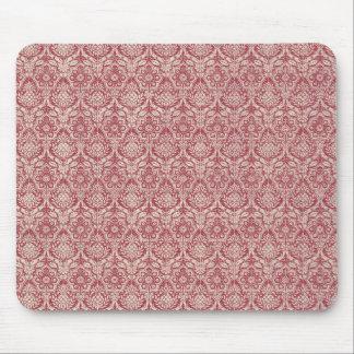 Damast-Rot-Muster Mousepad
