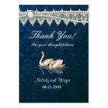 Damast-Schwan-Eleganz-Blau - danke Visitenkarten Vorlagen