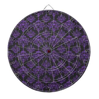 Damast-Tafel-Muster Halloweens lila Dartscheibe