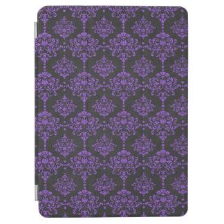 Damast-Tafel-Muster Halloweens lila iPad Air Cover