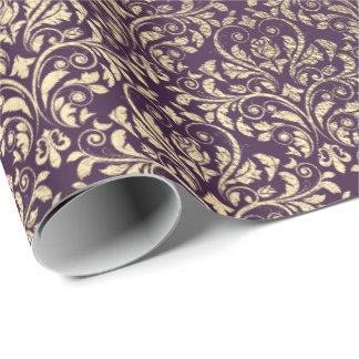 Damast-Veilchen-lila Geschenkpapier