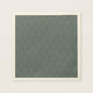 Damast-weises Grün-Ton auf Ton Serviette