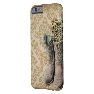 Damast-Wildblume Westernland-Cowboystiefel Barely There iPhone 6 Hülle