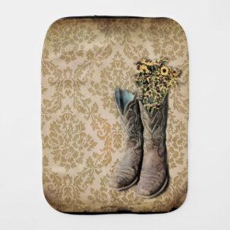 Damast-Wildblume Westernland-Cowboystiefel Spucktuch