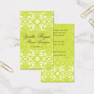Damast-Wirbels-Spitze-Limone kundenspezifische Visitenkarte