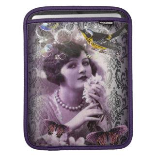 Damast-Zwanzigerjahre Dame Flapper Girl Paris des iPad Sleeve