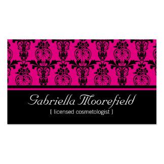 Damastschwarze rosa Cosmetologist-Visitenkarten Visitenkarten
