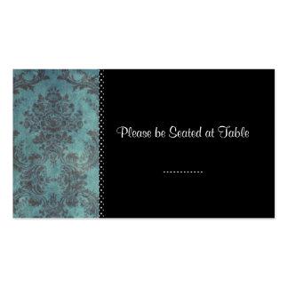 Damastschwarzes; Hochzeitstabellensitzplätze Visitenkarten