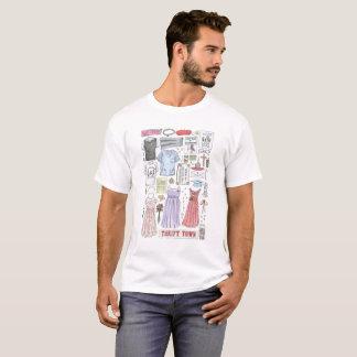 Dame Bird wendet Illustration ein T-Shirt