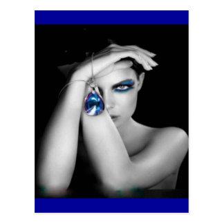 Dame Blue Postkarte