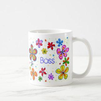 Dame Boss, große Blumen-Kaffee-Tasse Tasse
