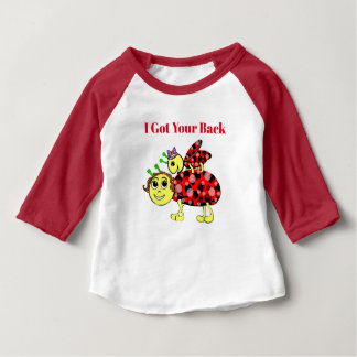 Dame Bug Love Customize Text Baby T-shirt