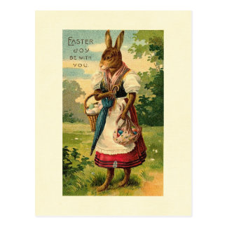 Dame Bunny Brings Ostern Joy Postkarte