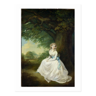 Dame Chambers, c.1789 (Öl auf Leinwand) Postkarte