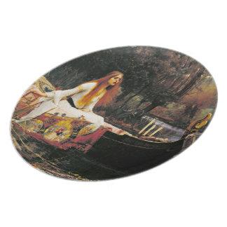 Dame der Schalotte-Platte Flache Teller