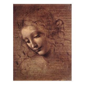 Dame des Disheveled Haares Postkarte