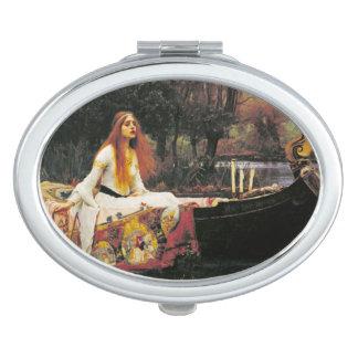 Dame des Schalotte-Spiegels Taschenspiegel
